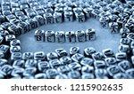 belief   word from metal blocks ... | Shutterstock . vector #1215902635