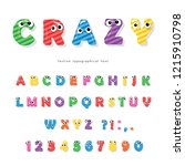 Funny Kids Font With Eyes....
