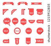 sale label collection set. sale ... | Shutterstock .eps vector #1215912835