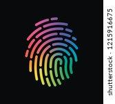 fingerprint. simple icon for... | Shutterstock .eps vector #1215916675