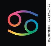 astrological sign. cancer...   Shutterstock .eps vector #1215917422