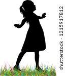 children black silhouette.   Shutterstock .eps vector #1215917812