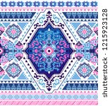 indian rug tribal ornament... | Shutterstock .eps vector #1215923128