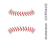 baseball lace ball illustration ... | Shutterstock .eps vector #1215926122