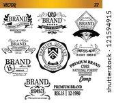 vector vintage brand set | Shutterstock .eps vector #121594915