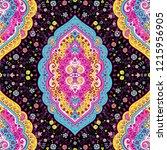 indian rug tribal ornament... | Shutterstock .eps vector #1215956905