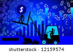 illustration of fork lifter... | Shutterstock .eps vector #12159574