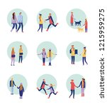 happy winter people vacation | Shutterstock .eps vector #1215959275