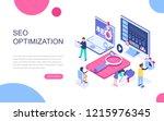 modern flat design isometric... | Shutterstock .eps vector #1215976345