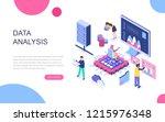 modern flat design isometric... | Shutterstock .eps vector #1215976348