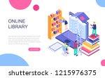 modern flat design isometric... | Shutterstock .eps vector #1215976375