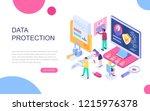 modern flat design isometric... | Shutterstock .eps vector #1215976378
