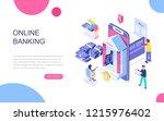 modern flat design isometric... | Shutterstock .eps vector #1215976402