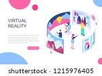 modern flat design isometric... | Shutterstock .eps vector #1215976405