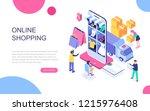modern flat design isometric... | Shutterstock .eps vector #1215976408