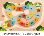 a simple board game template... | Shutterstock .eps vector #1215987835