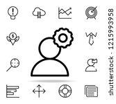 user settings icon. startups...