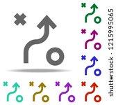 scheme of tactics icon.... | Shutterstock .eps vector #1215995065