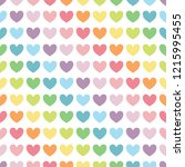 colorful heart in diagonal line.... | Shutterstock .eps vector #1215995455