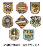 car service vintage badges with ... | Shutterstock .eps vector #1215999415