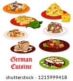 german cuisine meat and... | Shutterstock .eps vector #1215999418