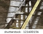 Old Wooden Steps In An...