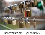 Love Locks On A Bridge Close U...