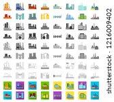 factory and facilities cartoon...   Shutterstock .eps vector #1216009402