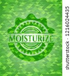 moisturize green emblem with... | Shutterstock .eps vector #1216024435