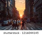 new york city  circa 2018 ... | Shutterstock . vector #1216044145