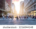 busy intersection of 23rd... | Shutterstock . vector #1216044148