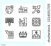 simple set of 9 icons related... | Shutterstock .eps vector #1216051705
