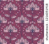 esoteric seamless pattern with... | Shutterstock .eps vector #1216051918