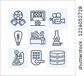 simple set of 9 icons related... | Shutterstock .eps vector #1216052728