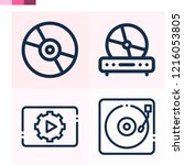 contains such icons as cd  cd... | Shutterstock .eps vector #1216053805