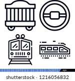 transport related outline... | Shutterstock .eps vector #1216056832