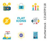 cryptocurrency and blockchain... | Shutterstock .eps vector #1216059118