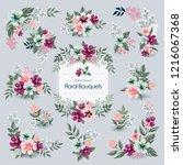 vector illustration of floral... | Shutterstock .eps vector #1216067368