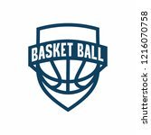 basketball badge logo icon...   Shutterstock .eps vector #1216070758