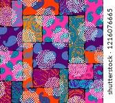 seamless background pattern.... | Shutterstock .eps vector #1216076665