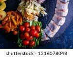 russian salty snack | Shutterstock . vector #1216078048