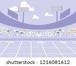 american football stadium scene | Shutterstock .eps vector #1216081612