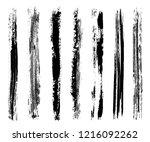 grunge paint lines.vector... | Shutterstock .eps vector #1216092262