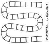 abstract futuristic maze ... | Shutterstock . vector #1216093075