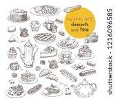 hand drawn vector illustrations ... | Shutterstock .eps vector #1216096585