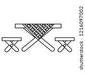 picnic table design | Shutterstock .eps vector #1216097002
