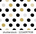 polka dot premium pattern... | Shutterstock .eps vector #1216097938