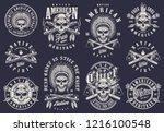 vintage native american logos...   Shutterstock .eps vector #1216100548