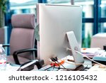 modern desktop all in one... | Shutterstock . vector #1216105432