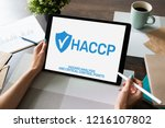 haccp   hazard analysis and... | Shutterstock . vector #1216107802